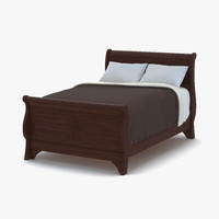 3d model bed 3