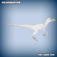c4d base mesh velociraptor