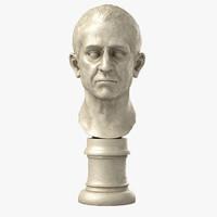 bust statue marcus nonius 3d model