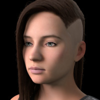3d girl female human model