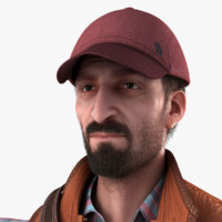 realistic male real 3d model