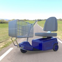 3d model of electric shopping