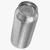 Tall Can With Water Droplets