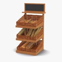 3d model of bakery display 4