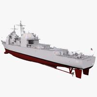 ticonderoga class cruiser leyte 3d max