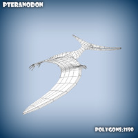 base mesh pteranodon 3d model