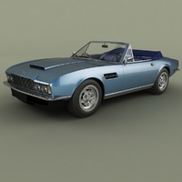 aston martin dbs convertible 3d model