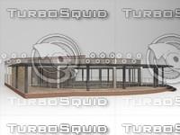 cafe restaurant building 3d max
