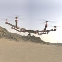 concept drone 3d max