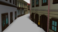 3d baroque street engraving model