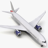 boeing 787 dreamliner generic 3d model