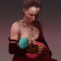 beautiful woman 3d 3ds