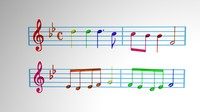 3d model music scores engraving -