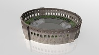 3ds pula arena coliseum engraving