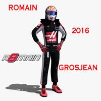 3d model romain grosjean 2016