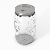widemouth mason jar 3d model