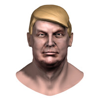 donald trump zbrush head 3d 3ds