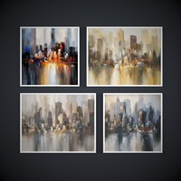 Painting frame.The collection of paintings by contemporary artists, New-York city