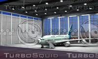 ready plane interior exterior 3d model
