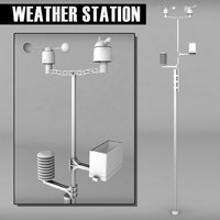 3d weather meteo station model