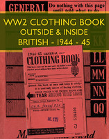 WWII Clothing ration book