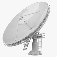 big dish antenna 3d model