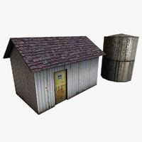 3d model utility building