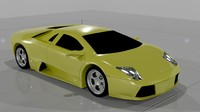 3d model of lamborghini murcielago