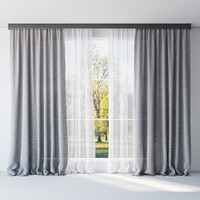 curtains tulle 3d max