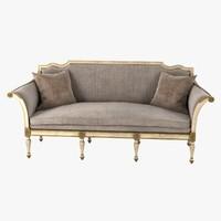 3d model sofa bergamo settee