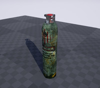 old gas canister 3d model