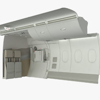 3d emergency exit wall section model