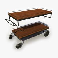 3d model food cart