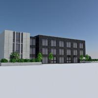 3d model - city office building