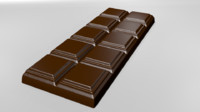 3d model of chocolate