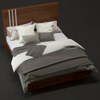 3d modern bed model