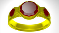 3d golden ring model