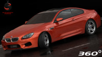 3d model bmw m6 coupe 2015