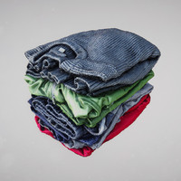 Folded Clothing Sweaters Shirts