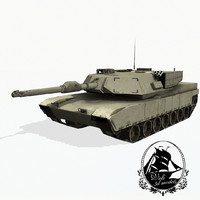 3d model m1 abrams battle tank
