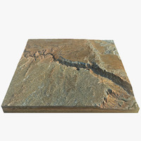 3d marble canyon model