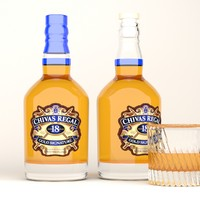 chivas regal whiskey bottle 3d max
