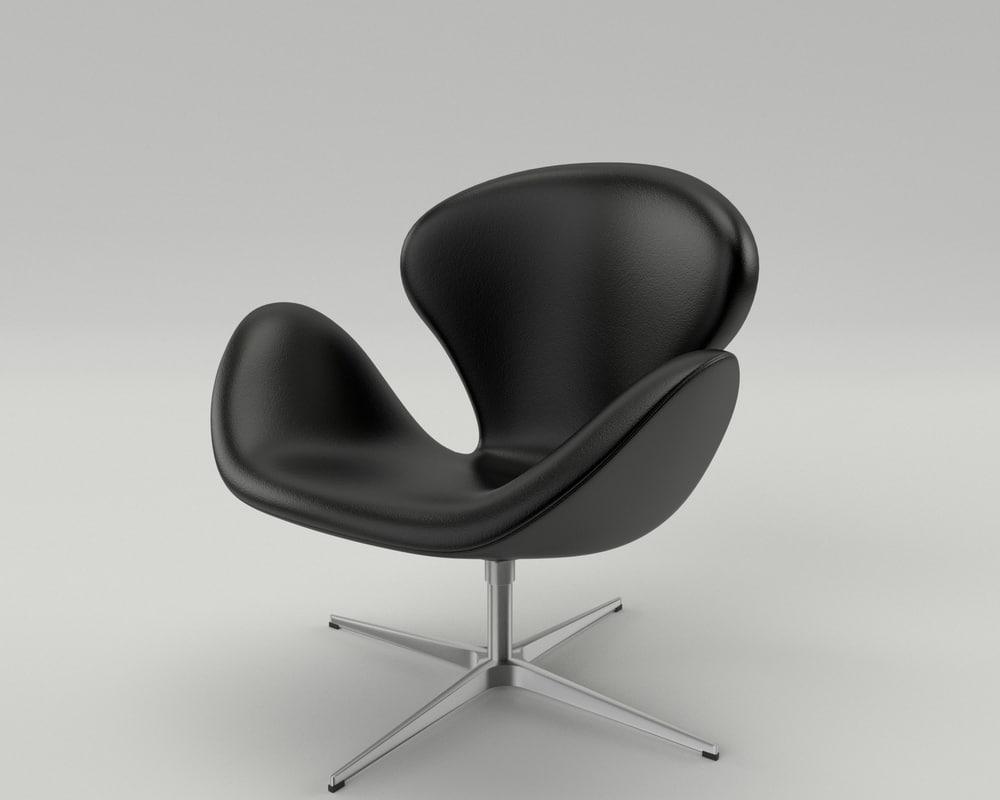 3d fritz hansen swan chair model. Black Bedroom Furniture Sets. Home Design Ideas