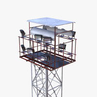 3d max real-time light tower