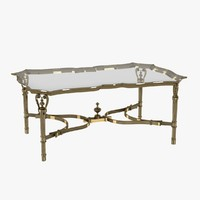 table rectangular cast brass 3ds