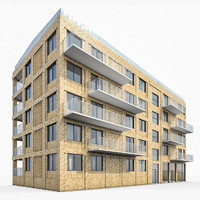 residential building exterior 3d 3ds