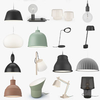 muuto lighting lamps 3d max