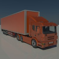 contains trailer tractor 3d max