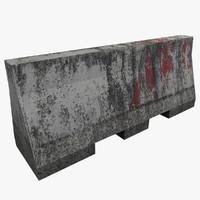 3d model barrier ready games