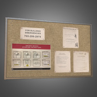 3d laundromat bulletin board -